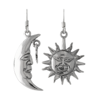 moon and sun ear rings stock by DoloresMinette