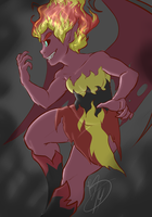 MLP EQG- Demon Sunset Shimmer by HoneyCane