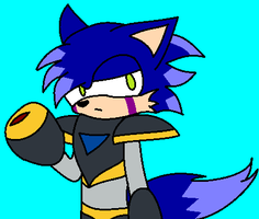 Johnny cosplaying as Forte/Bass by Johnny-HedgeWolf