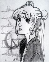 Inktober Day 08 Punk Usagi by MTToto