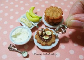 Miniature Chocolate Waffles by ilovelittlethings