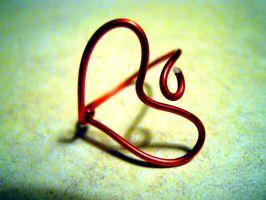 Wire Heart Wrap Ring by Ryannethelion