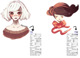 Paint tool sai/tools- Brushes by Marineko69