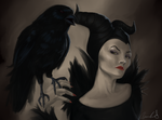 Maleficent- Detail by Kitoniss