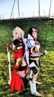 Fiora and Kayle by Heriawartel