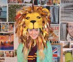 My Luna Lovegood Lion Hat by LaurenIsACrazyLlama