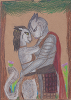 Gift for King Coin: Loving Embrace by LadyMetaRose