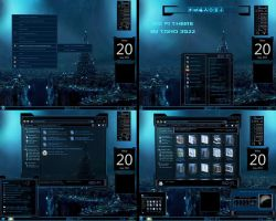 windows 7 theme blue glass sci fi by tono3022