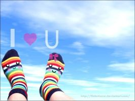 I.Love.Rainbow.Socks by FlabnBone