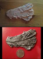 Smaug cast in pewter by Adnaurian