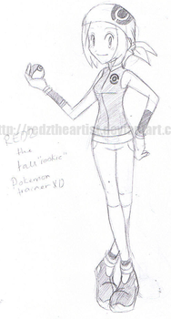 Me as a P.mon Trainer -sketch- by Redztheartist