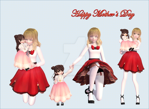 [MMD - OC] Happy Mother Day by EriPhantomhive