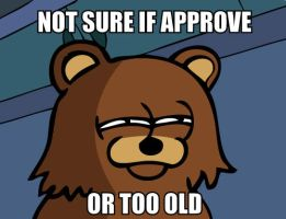 memes: Pedobear not sure by c0rr0si0n