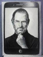 steve jobs oil canvas by ultraseven81