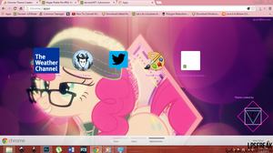 Hipster Pinkie Pie  Google Chrome theme by shaynelleLPS