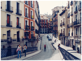 Street of Madrid, Spain by OrangeBoyDesign