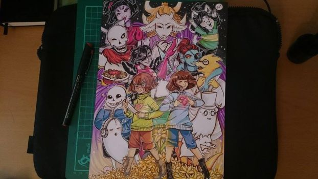undertale tribute piece by sophira-moonlily