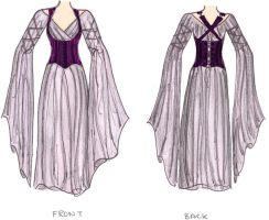 Purple Corseted Dress by racehorse87