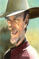 Clint Eastwood caracature by HowardMolloy