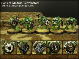 Sons of Medusa Terminators by aaronprovost
