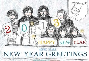 Happy New Year from House Stark by sketchditto