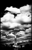 clouds over cross church by andreasbf