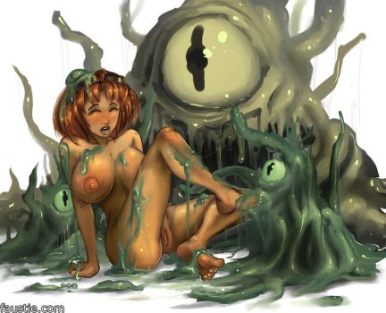 Cassie slimed by faustie