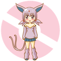 Gijinka Espeon  adopt 60 points by kirin-48