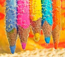 Pencils made of Candy colours by naked-in-the-rain