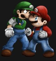 Mario and Luigi by FilipeMarcelo