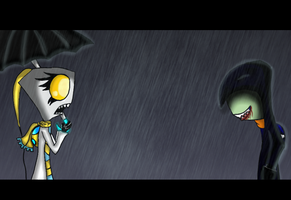 Encounter in the Downpour. by xSharonthehedgehogx