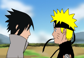sasuke and naruto by SakamakiJustine