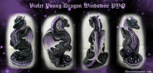 Violet Dusk Young Dragon Windstone PYO by Eviecats
