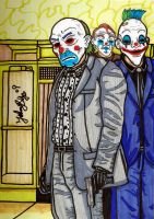 Joker and his body guards by jpbijos