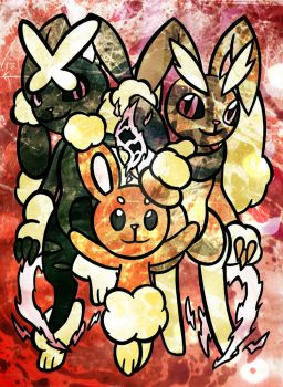 .::Scrappy Bunnies::. by TeaLadyC8LIN