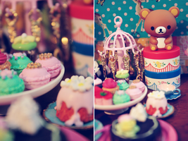 rilakkuma and sweets by cyristine