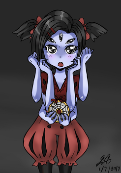 Sketch 11 - Muffet by Manhunterj