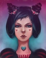 Queen of Hearts by AmiNezumi
