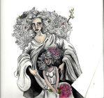 Demeter and Persephone by BehindtheBlueWindow