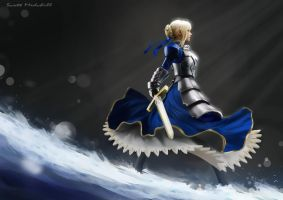 Fate/Zero Saber by goatlord51