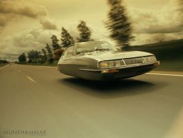 Flying Citroen SM by JacobMunkhammar