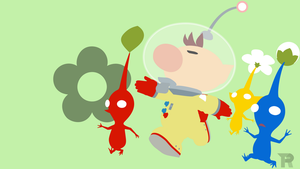 Olimar And Pikmin Minimalist by turpinator77