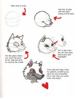 3 4ths Wolf Head Tutorial by SWolfBlood