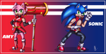 .: Sonic and Amy Speed Force United :. by Rubisha