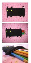 Cat Pencil Pouch by uglykat