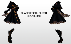 MMD Blade and Soul outfit dl by UnluckyCandyFox
