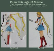 Redraw Sailor Moon by Kirschpraline
