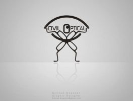 Civil Optical Co. logo design2 by behzadblack