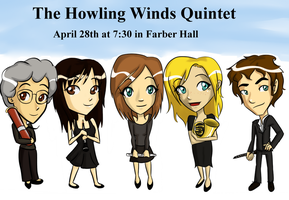 Woodwind Quintet poster by Chibi-Angelwolf-chan