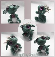 Bitty Jade Baby Dragon With Ball by BittyBiteyOnes